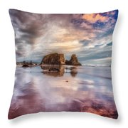 Dancing Sunset Throw Pillow by Darren  White
