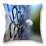 Dandelion Wish Throw Pillow by Laura Fasulo