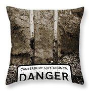 Danger Throw Pillow by Mark Rogan