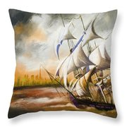 Dangerous Tides Throw Pillow by Corporate Art Task Force