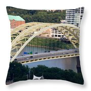 Daniel Carter Beard Bridge Cincinnati Ohio Throw Pillow by Paul Velgos