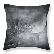 Dark night sky paradox Throw Pillow by Taylan Soyturk