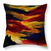 Dark Times Throw Pillow by Anastasiya Malakhova