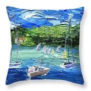 Darling Harbor II Throw Pillow by Jamie Frier