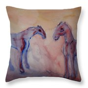 Darling I feel blue  Throw Pillow by Hilde Widerberg