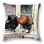 darling its cold outside Throw Pillow by Hilde Widerberg