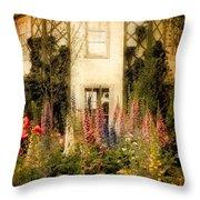 Darwin's Garden Throw Pillow by Jessica Jenney