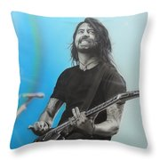 'dave Grohl' Throw Pillow by Christian Chapman Art