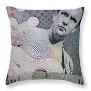 Dave Matthews All the Colors Mix Together Throw Pillow by Joshua Morton