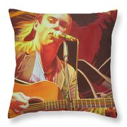 Dave Matthews At Vegoose Throw Pillow by Joshua Morton