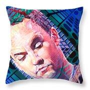 Dave Matthews Open Up My Head Throw Pillow by Joshua Morton