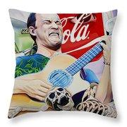 Dave Matthews Seek Up Throw Pillow by Joshua Morton