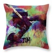 David Ortiz Abstract Throw Pillow by David G Paul