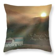 Dawn Throw Pillow by Lori Deiter