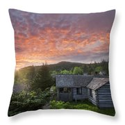 Dawn Over Leconte Throw Pillow by Debra and Dave Vanderlaan