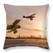 Dawn Patrol Throw Pillow by Pat Speirs