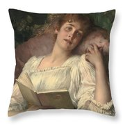 Daydreaming Throw Pillow by Conrad Kiesel