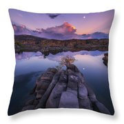 Days End Throw Pillow by Peter Coskun