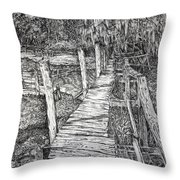 Days Gone By Throw Pillow by Janet Felts