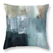 Days Like This - Abstract Painting Throw Pillow by Linda Woods