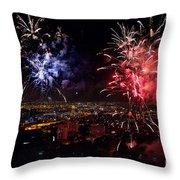 Dazzling Fireworks II Throw Pillow by Ray Warren