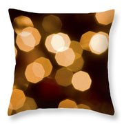 Dazzling Lights Throw Pillow by Rich Franco