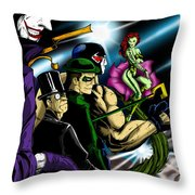 Dc Villains Throw Pillow by Alexiss Jaimes
