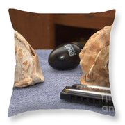 De Conch Shell Throw Pillow by William  James
