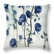 Deadly Beauty Throw Pillow by Priska Wettstein