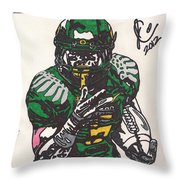 De'anthony Thomas Throw Pillow by Jeremiah Colley