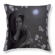Death Crone Throw Pillow by Diana Perfect
