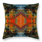 Decalcomaniac Intersection 2 Throw Pillow by Otto Rapp