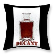 Decant Throw Pillow by Frank Tschakert