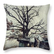 Decay Barn Throw Pillow by Svetlana Sewell
