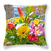 December Flowers Throw Pillow by Chuck Staley
