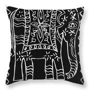 Decorated Elephant Throw Pillow by Caroline Street