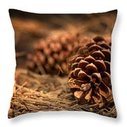 Deep In The Forest Throw Pillow by Jane Rix