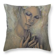Deep Inside Throw Pillow by Dorina  Costras