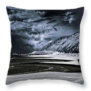 Deep Into That Darkness Throw Pillow by Stelio Photography