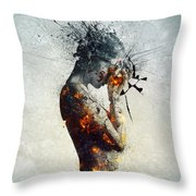 Deliberation Throw Pillow by Mario Sanchez Nevado