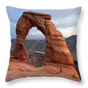 Delicate Arch - Arches National Park - Utah Throw Pillow by Aidan Moran