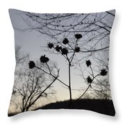 Delicate Silhouette Throw Pillow by Carlee Ojeda