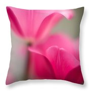 Delicate Tulip Curves Throw Pillow by Mike Reid