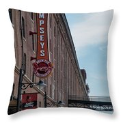 Dempseys Brew Pub Throw Pillow by Susan Candelario