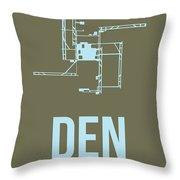 Den Denver Airport Poster 3 Throw Pillow by Naxart Studio