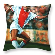 Dennis Bergkamp 2 Throw Pillow by Paul  Meijering