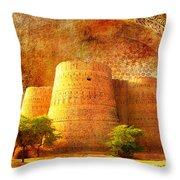 Derawar Fort Throw Pillow by Catf