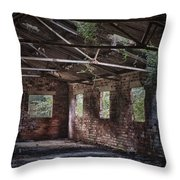 Derelict Building Throw Pillow by Amanda Elwell