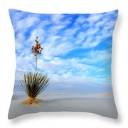 Desert Beauty White Sands New Mexico Throw Pillow by Bob Christopher
