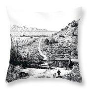 Desert Home Throw Pillow by Joseph Juvenal
